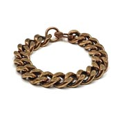 Vintage Mens Heavy Copper Link Bracelet - Small Size