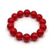 Vintage Style Red Acrylic Ball Beaded Bracelet