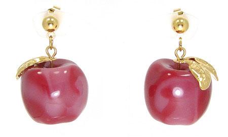4fef4ec7a4501 Vintage Avon Apple Earrings