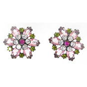 Vintage Avon Rhinestone Flower Earrings