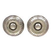 Sterling Large Round Concho Earrings