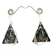 Vintage Real Circuit Board Earrings