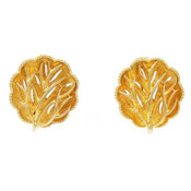 Vintage Coro Golden Tree Earrings