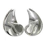 Vintage Laurel Burch Silver Bird Earrings