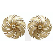 Vintage Sarah Coventry Golden Swirl Earrings