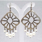 Silpada Sterling And Pearl Earrings W2165