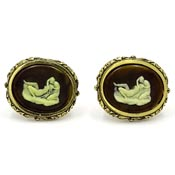 Dante Museum Masterpiece Collection Lovers Cufflinks