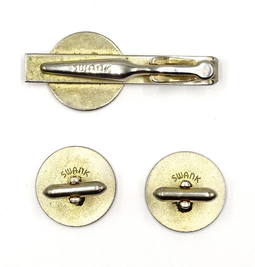 VINTAGE SWANK cufflinks and tie pin set