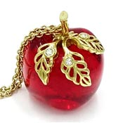 Vintage Avon Red Apple Necklace