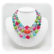 Vintage Hattie Carnegie Smashing Colorful Beaded Necklace