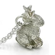 Fun Pewter Jackalope Pendant Necklace