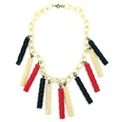 Vintage Celluloid Licorice Candy Necklace