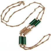 Vintage Sarah Coventry Oriental Lanterns Necklace Jade