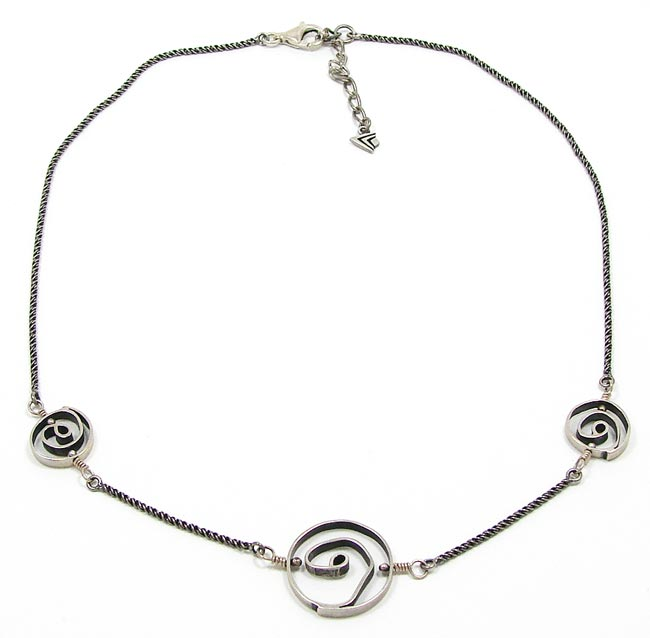 silpada sterling swirl necklace