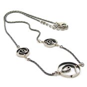 Vintage Silpada Sterling Swirl Necklace