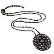 Sorrelli Long Rhinestone Medallion Necklace