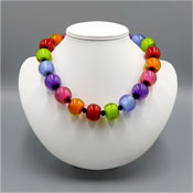 Zsiska Bright Round Beaded Necklace From The Color Collection
