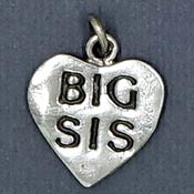 Sterling Big Sis Charm