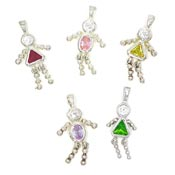 Vintage Sterling Birthstone Kid Charms - Pick Your Style