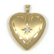 Vintage Heart Shaped Locket PPC 14K GF