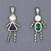 Vintage Plated Birthstone Kid Charms - Pick Your Style