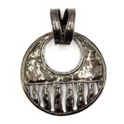 Silpada Sterling Round Hammered Cascading Wave Pendant S1515