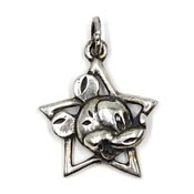 Vintage Sterling Mickey Mouse Star Charm By Van Dell