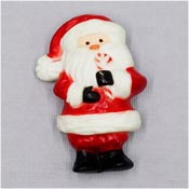 Vintage Hallmark Santa With Candy Cane Pin 1970's