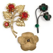 Vintage $30.00 Floral Pins - Pick Your Style
