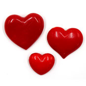 Three Vintage Red Acrylic Plastic Heart Pins Hallmark And More