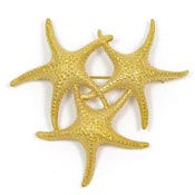 Vintage Monet Three Starfish Pin
