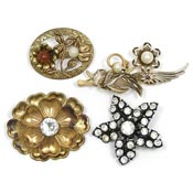 Vintage $8.00 Floral Pins - Pick Your Style