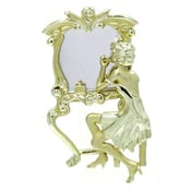 Vintage Lady And Her Mirror Pin By AJC