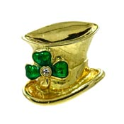 Vintage Avon Irish Top Hat Pin