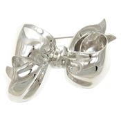 Vintage Big Silver Monet Bow Pin