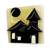 Lucinda Black House Pin With Moon