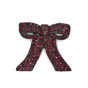 Vintage Convertible Red Rhinestone Bow Brooch