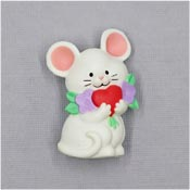 Vintage Valentines Mouse Pin By Current
