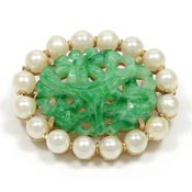 Marvella Peking Style Glass Pearls Dynasty Pin