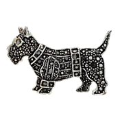 Scottish Terrier Rhinestone Pin