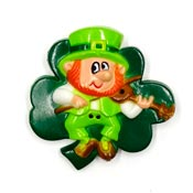 Vintage Leprechaun With Fiddle Pin By Russ