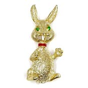 Vintage Gold Easter Bunny Pin By Gerrys