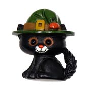 Vintage Halloween Cat In Witch Hat Pin By Hallmark