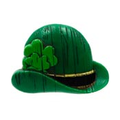 Vintage Hallmark Green Bowler Irish Hat Pin