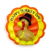 Vintage Happy Turkey Day Thanksgiving Pin By Russ