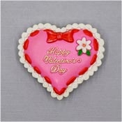 Vintage Happy Valentine's Day Heart Pin By American Greetings 1980