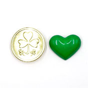 Vintage Gold Shamrock Coin And Green Heart Pins