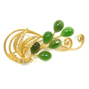 Golden Jade Spray Pin