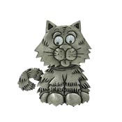Vintage Googly Eye Cat Pin By JJ