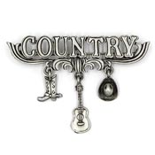 Vintage Pewter Country Pin By JJ